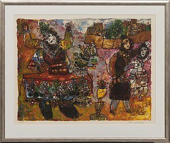 Theo Tobiasse, lithograph in colours, signed and numbered 44/175.