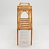A mid 20th century rattan flower table.
