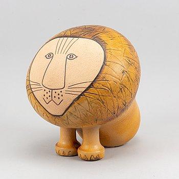A stoneware 'Lion Maxi' sculpture by Lisa Larson, Gustavsberg.