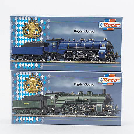 Two steam locomotives from roco, model 69370 and 63371.