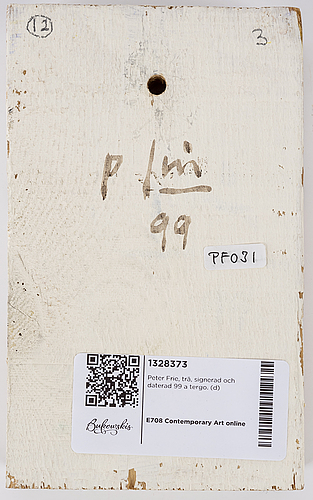 Peter frie, signed and dated 99 on verso.