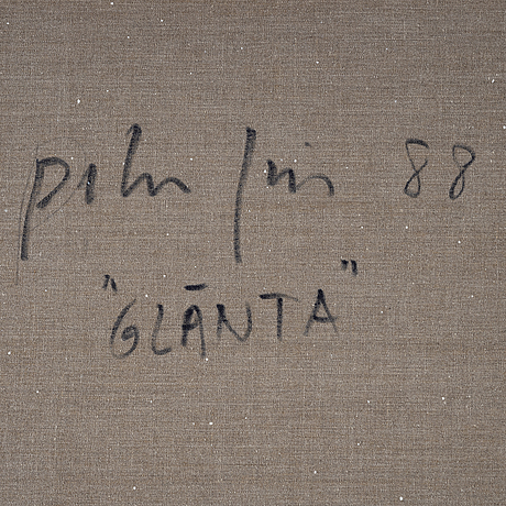 Peter frie, canvas, signed and dated 88 on verso.