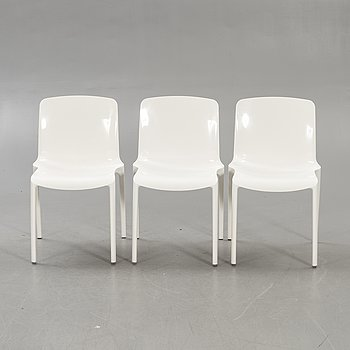 Marcello Ziliani, a set of three Tiffany chairs for Casprini Italy later part of the 20th century.