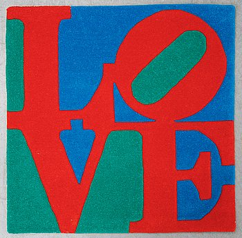 """Robert Indiana, """"CLASSIC LOVE"""", numbered 5030/10000, edition galerie-f 2007."""
