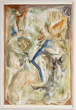 Anita Nilsson Billgren, mixed media on paper, signed and dated 1997.