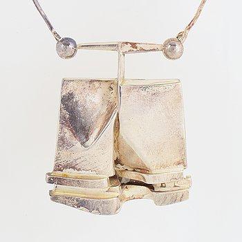 "Björn Weckström, silver necklace,  ""O2X"", Lapponia 1973."
