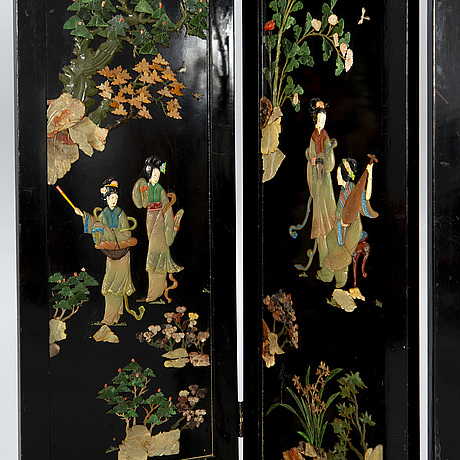 A japanese folding screen l20th century.