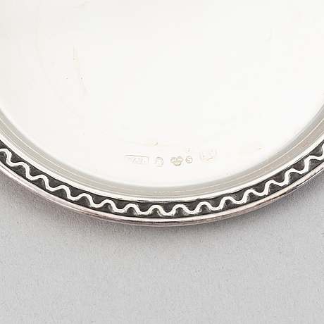 12 silver coasters, mark of gab, stockholm, 1955-59.