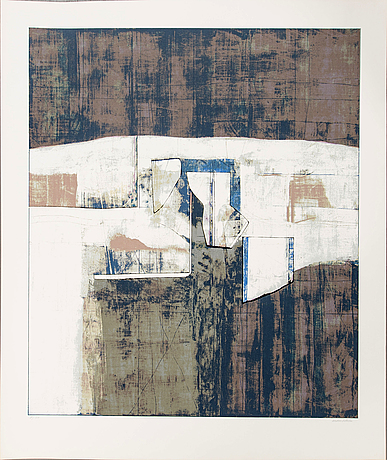 Anders österlin, a signed and numbered colour serigraph.