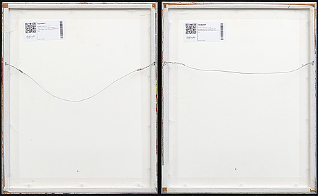 Anders österlin, two signed and numbered colour serigraphs.