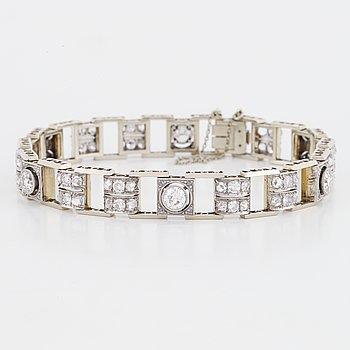 Armband 18K vitguld med gammal- och rosenslipade diamanter.