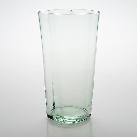 Alvar aalto, a vase , signed  alvar aalto 100, iittala 1998.