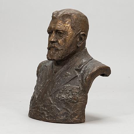 Sven august adolf jonsson, pysti, pronssia, signeerattu ja päivätty 1919.
