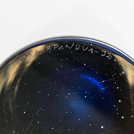 Timo sarpaneva, a 'jääpuikko' (icicle) glass carafe, signed timo sarpaneva -3288. designed 1958.