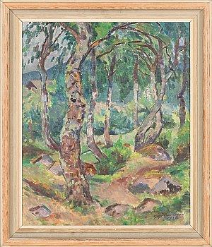 Yrjö Saarinen, oil on canvas, signed and dated -36.