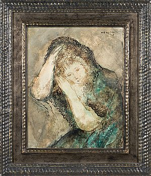 Unto Koistinen, oil on board, signed and dated 1967.