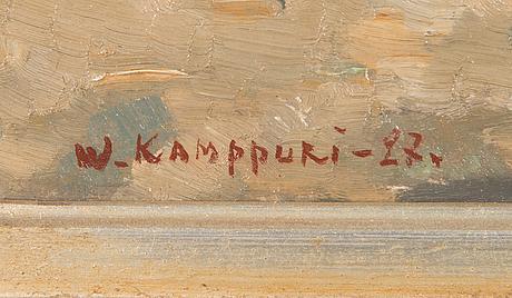 Väinö kamppuri, oil on board, signed and dated -27.