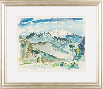 Erik Enroth, watercolour, signed and dated 1950.