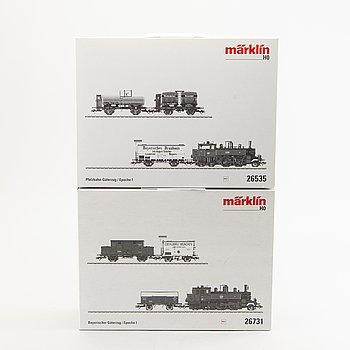 Two Märklin train sets, 26535 and 26731.