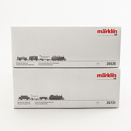 Märklin, 2 tågset, 26535 samt 26731, h0.