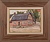 Louis sparre, oil on board, signed.