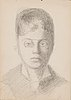 Helene schjerfbeck, pencil drawing, unsigned.