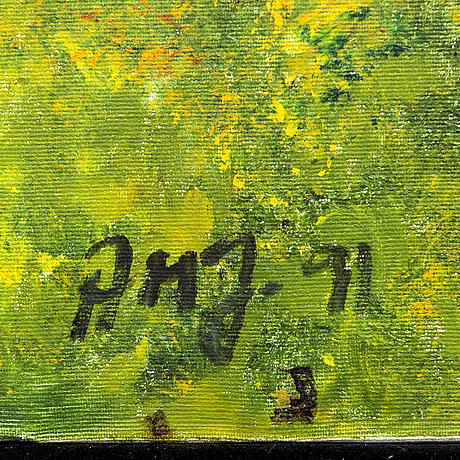 Ann-marie jönsson, oil on canvas, signed.