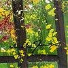 "Ann-marie jönsson, oil on canvas, signed, dated, ""do not shut me in""."
