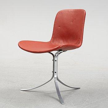 A 'PK-9* chair by Poul Kjaerholm for Fritz Hansen, Denmark, 1990.