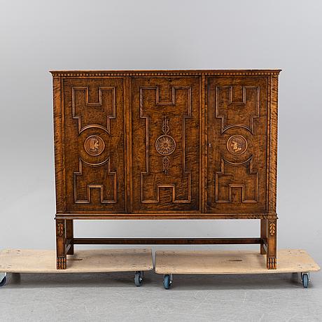 A 'roma' cabinet by axel einar hjorth for svenska möbelfabrikerna, bodafors, 1920's.