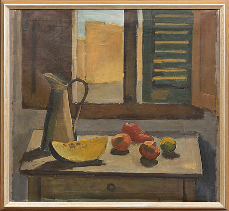 Gerhard nordström, oil on canvas signed and dated 52.
