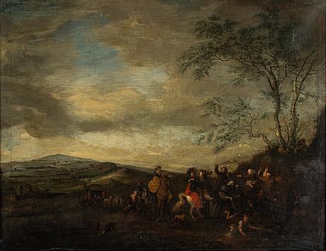 Philips wouwerman, hans efterföljd, olja på duk.