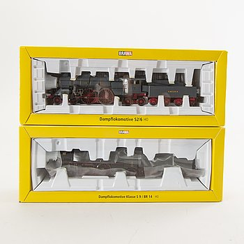 2 Brawa locomotives, 0655 and 40273.