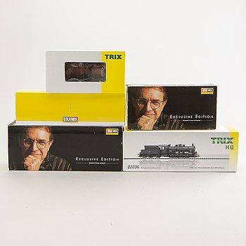 5 locomotives from Trix and Brawa.