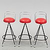 A bar with three stools, second half of the 20th century.