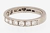 Ring 18k whitegold, 10 brilliant-cut diamonds 0,52 ct inscribed.