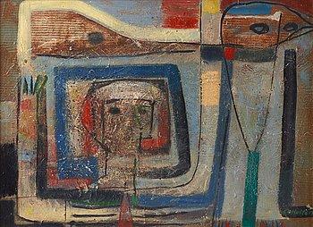 CO Hultén, oil on canvas, signed.