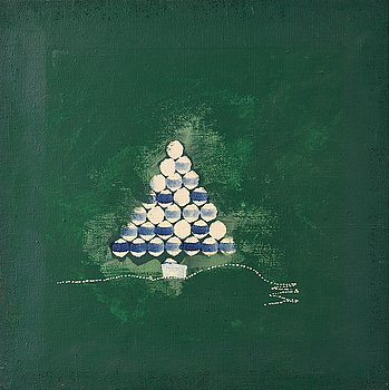 Carl Fredrik Reuterswärd, oil on canvas, signed and dated 1961-62 verso.