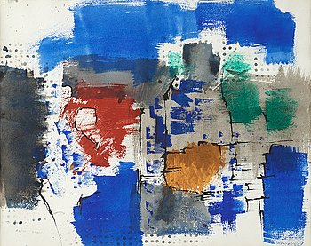 Endre Nemes, tempera on paper, signed Endre Nemes and dated 1960.