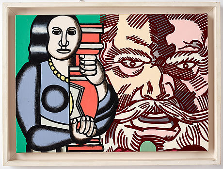 Erró, acrylic on canvas, signed and dated 1992 verso.