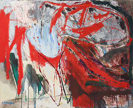 Co hultén, oil on canvas, signed and dated -61.