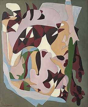 Lambert Werner, oil on canvas, signed and dated -46.