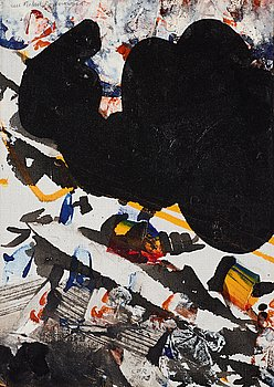 Carl Fredrik Reuterswärd, oil on canvas, signed and dated 1960.