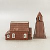 Miniature church and tower first half of the 19th century.