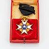 The royal nordstjärne order, 18k gold and enamek.