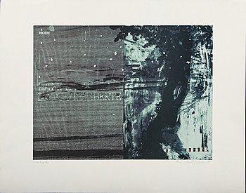 Ola Billgren, color lithograph, signed -83 Provtryck.