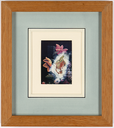 Ross bleckner, oil on card signed and dated 95 on verso.