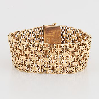 Armband 18K guld, X-länk.