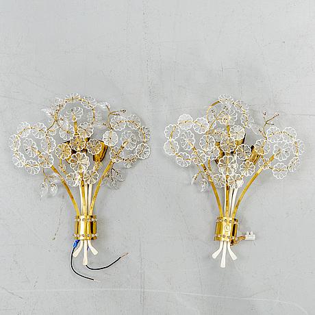 Emil stejnar, wall lamps, a pair. 1950s.
