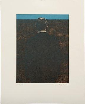 Ola Billgren, color lithograph, signed -81 trail print.